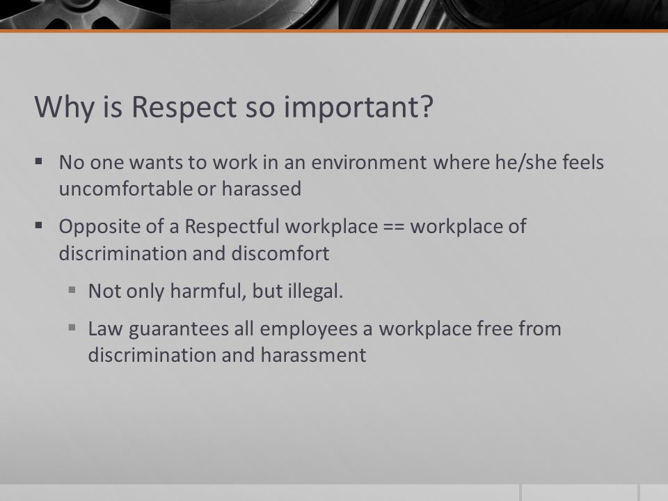 why it is important to respect Why is it important to respect different cultures having lots of different beliefs is a good thing, not something to feel confused about different cultures benefit lots of people, and should be respected.