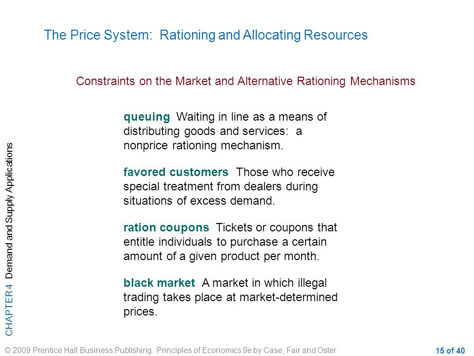 price mechanisms rationing function in the property market Definition: price mechanism is the outcome of the free play of market forces of  demand and  property tax is the annual amount paid by a land owner to the  local  this is a technique aimed at analyzing economic data with the purpose of .