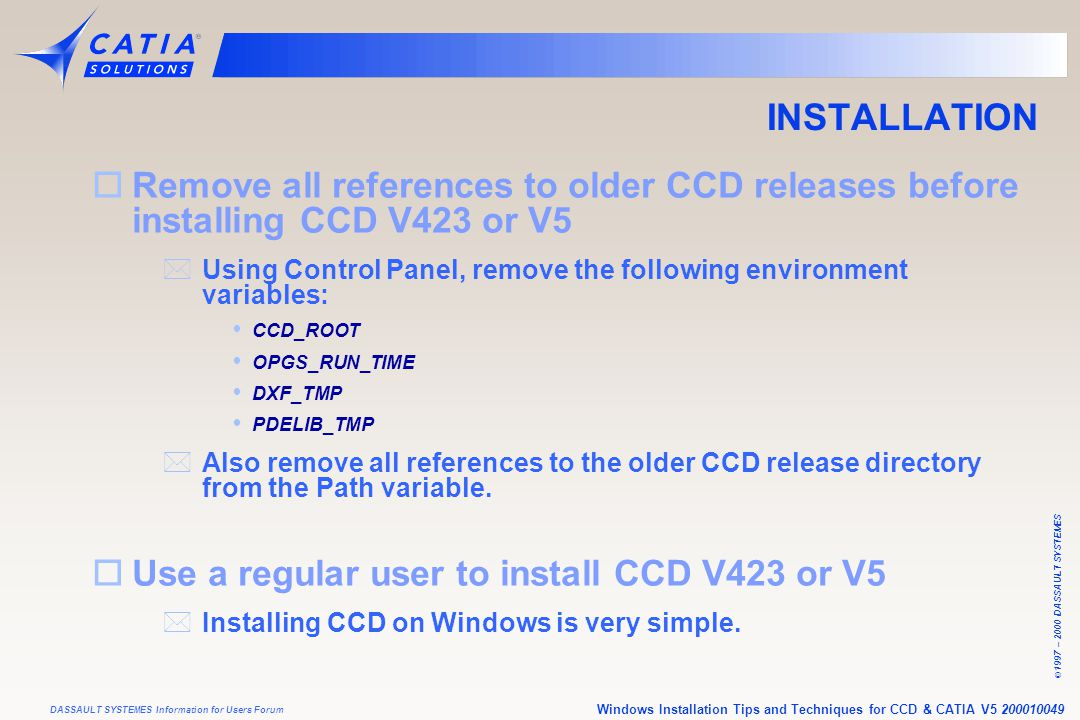 INSTALLATION Remove all references to ol
