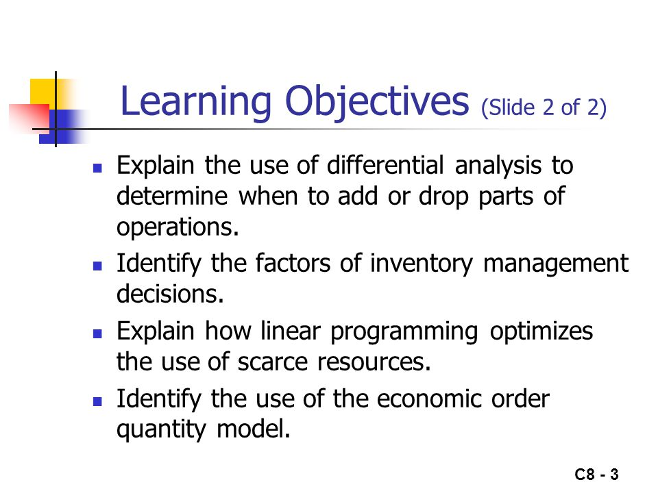 Learning Objectives (Slide 2 of 2)