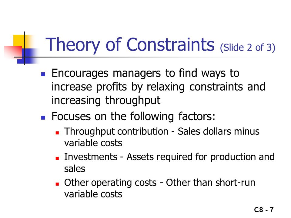 Theory of Constraints (Slide 2 of 3)
