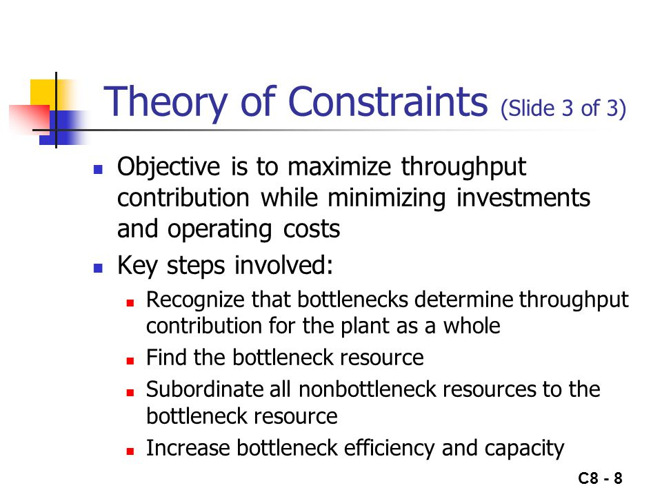 Theory of Constraints (Slide 3 of 3)