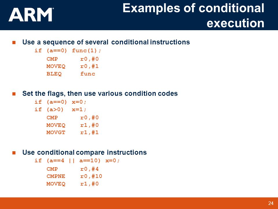 arm codes examples for practice