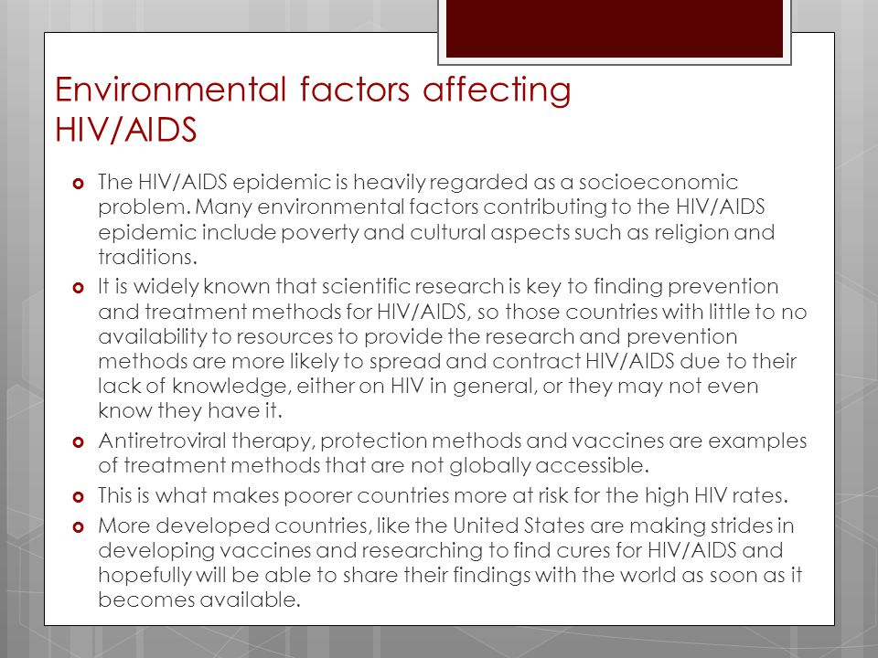 the factors contributing to the rapid spread of aids in the united states Why population matters to infectious diseases and hiv/aids can contribute to the emergence are two major factors affecting disease spread.
