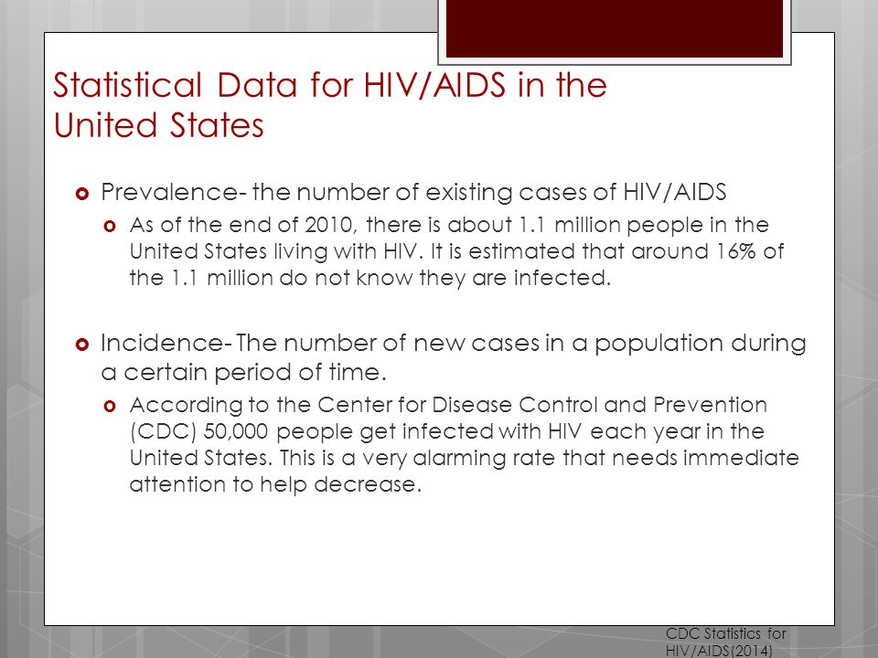 The detection and prevalence of aids in the united states
