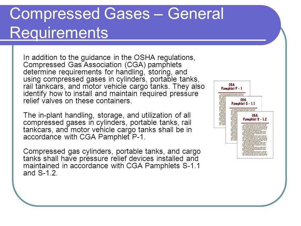 Osha Compressed Gas Cylinder Storage Requirements Best