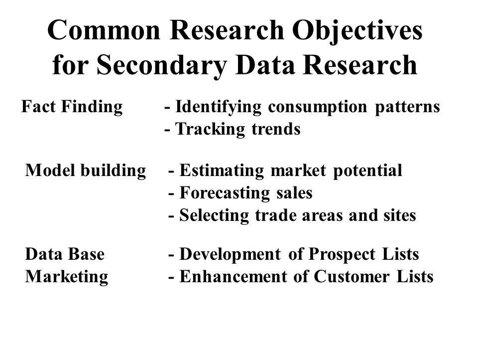 identifying research objectives A tightly scoped research objective might focus on a specific set of tasks or goals for  and cluster them to identify how they may be proved or disproved through .