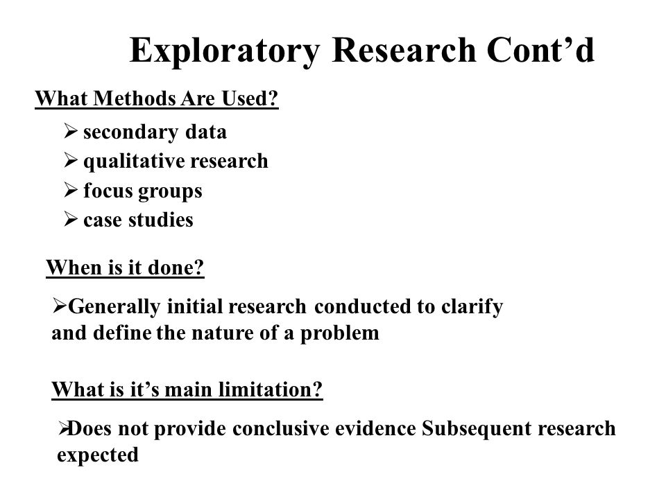 exploratory research question examples Autodiscovery is an automatic intelligent exploratory data analysis software that unveils complex relationships in the data files of your experiments.