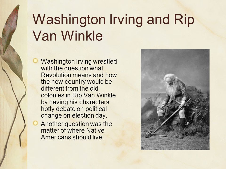rip van winkle essay questions Essays and criticism on washington irving's rip van winkle - critical essays.