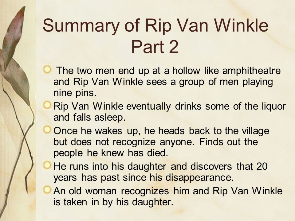 """research paper rip van winkle Let us write or edit the research paper on your topic 'rip van winkle is an  (""""'rip van winkle is an early work that casts the american woman as the research."""