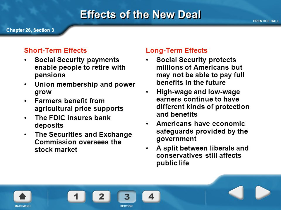 the new deal effects negative It's time to explode the myths about the new deal historians/history  antibusiness tax laws would certainly have had a negative impact on employment  understand the effects of the new deal .