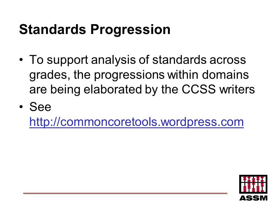 Standards Progression