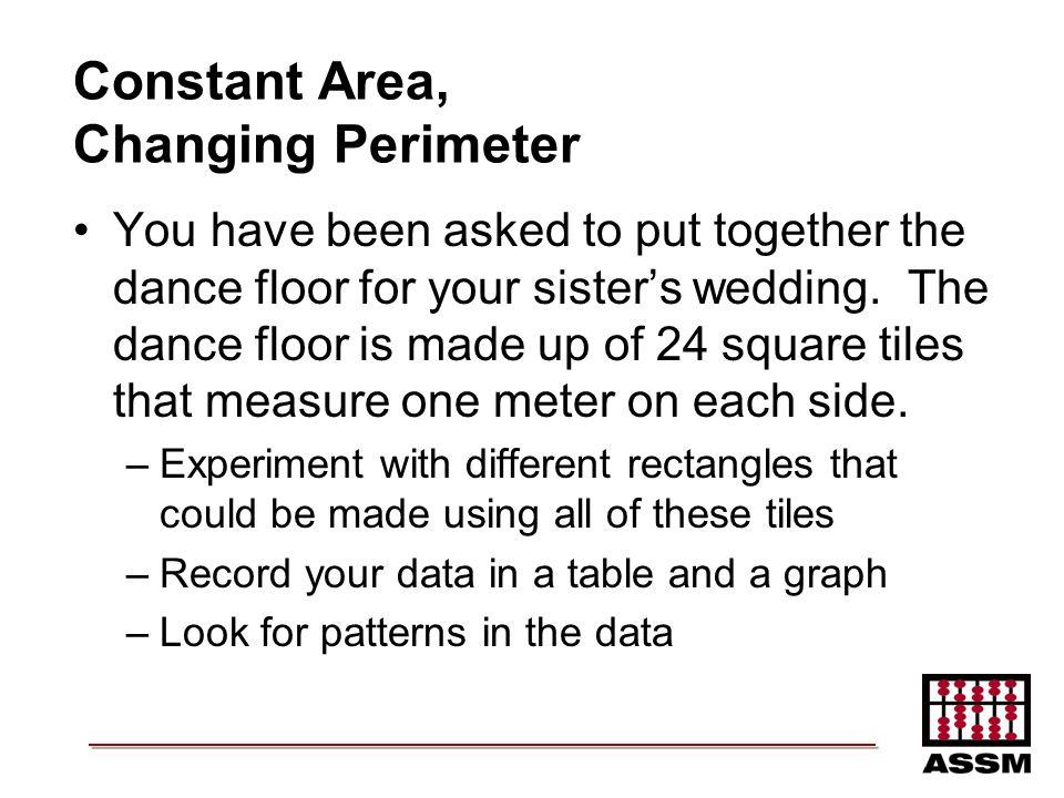 Constant Area, Changing Perimeter