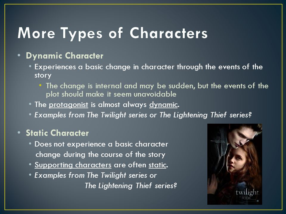an analysis of a dynamic character Do all novels and short stories need a dynamic character as a protagonist learn what goes into writing a rounded character with this guide and infographic.
