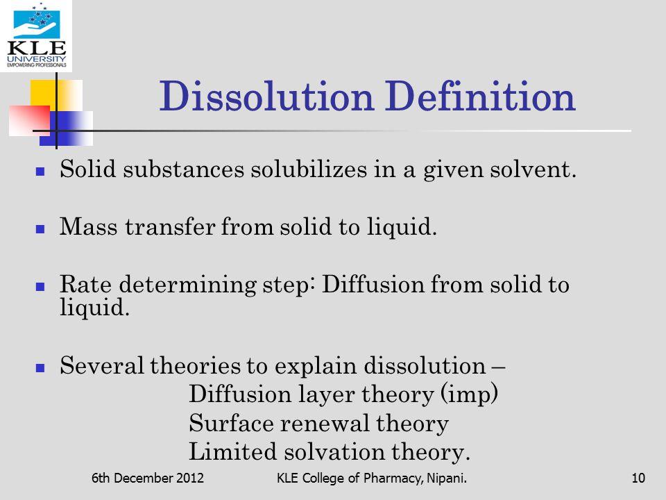 Dissolution Definition