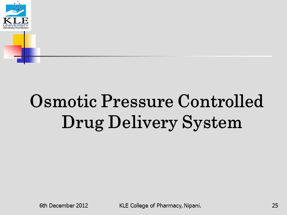 osmotic drug delivery system research paper