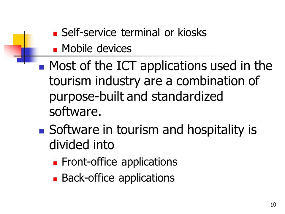 ict in the hospitality industry Gdfhts/2010 international labour organization sectoral activities programme developments and challenges in the hospitality and tourism sector.