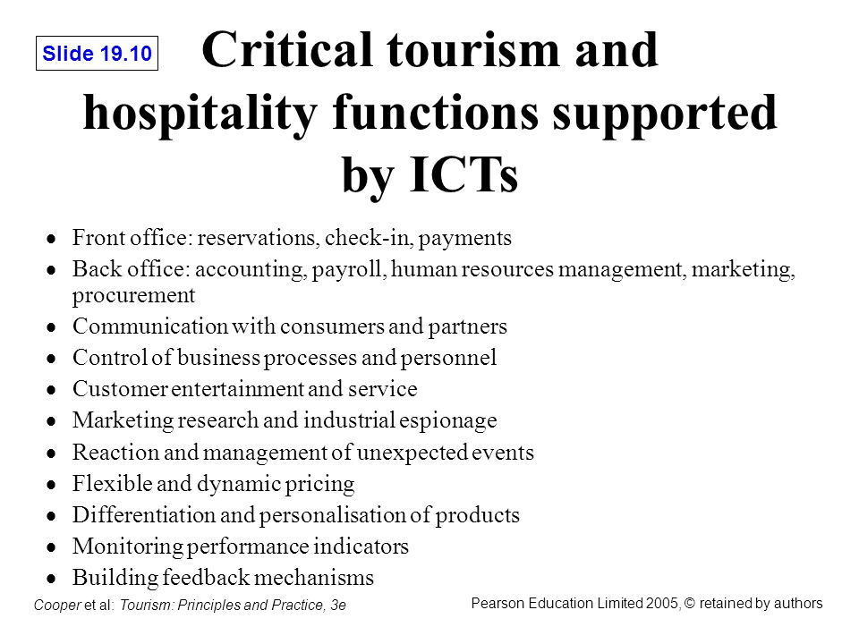 A study on the importance of marketing in tourism and hospitality