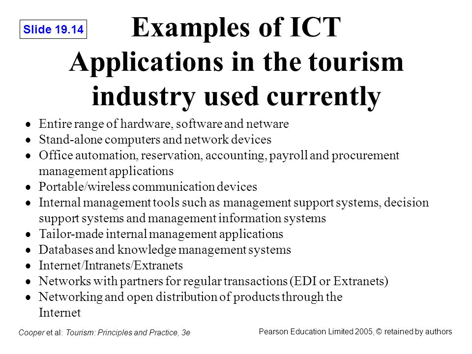 Chapter 19 Information Technology In Tourism Ppt Video