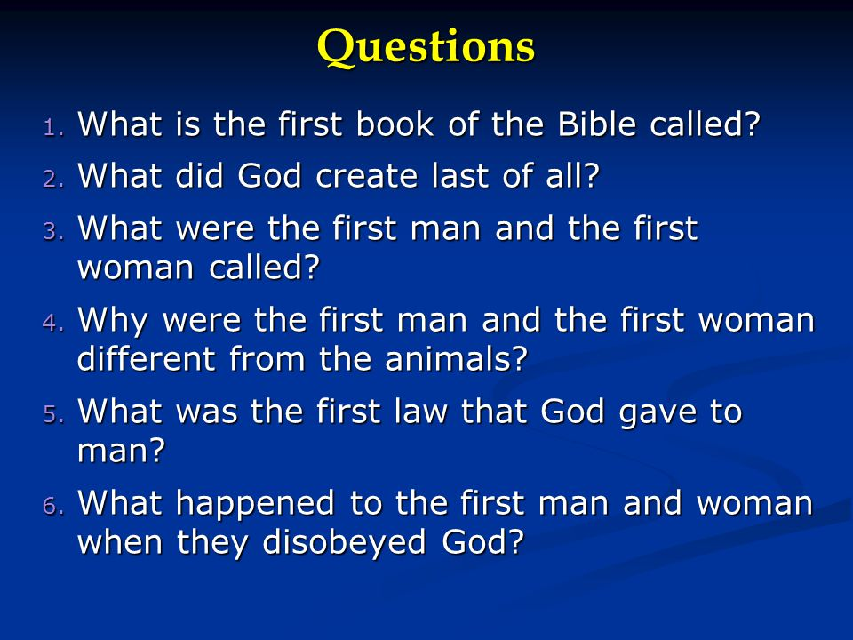 Basic Bible Teaching Lesson 2 Ppt Download