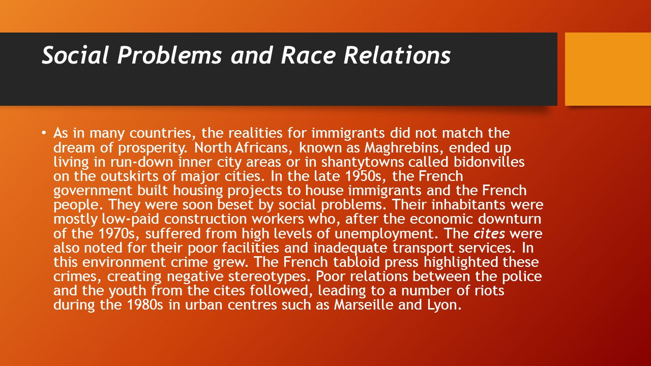 the major problem of racism throughout the world Castles, stephen, racism: a global analysis, centre for multicultural studies,  university of  racism has long been a serious problem in many societies.