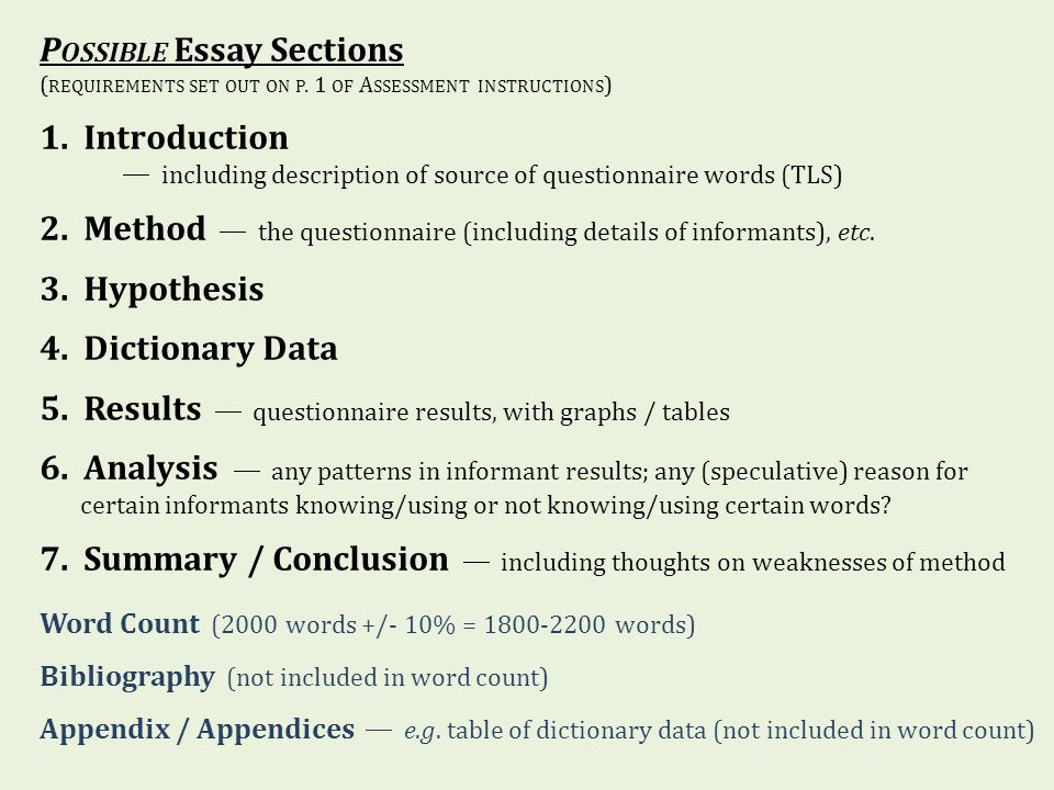extended essay word count tables An extended essay in ess is optional, whereas the ia is compulsory for all ess  students  there is a 1500-2250 word limit for the internal assessment report,  but tabulated numerical  in addition, no abstract, nor table of contents is  required.