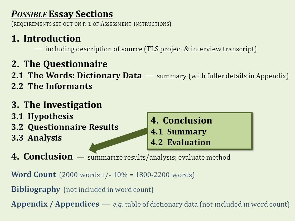 possible essay sections introduction ppt  possible essay sections 1 introduction 2 the questionnaire