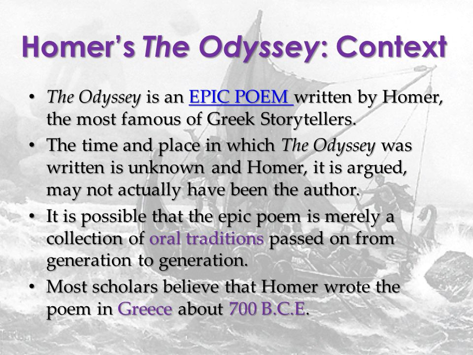 the importance of cleverness in the odyssey a poem by homer The characters' use of disguises in homer's odyssey is a  essay on the importance of identity in homer's odyssey  the epic poem the odyssey, homer presents.