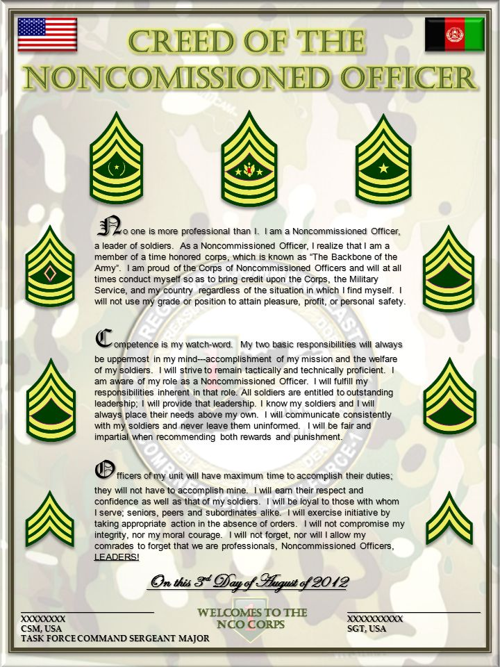 History of the NCO Creed