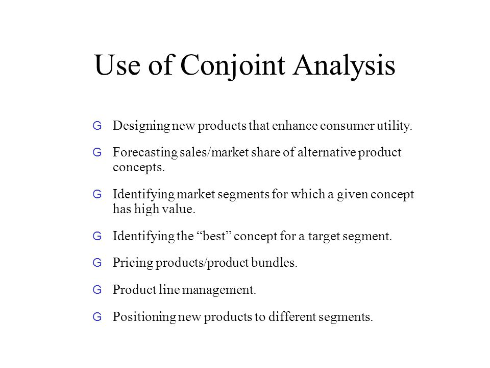 Importance of Conjoint Analysis in Marketing Research ...