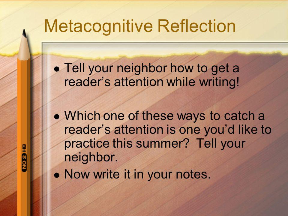 Metacognitive reflection essay