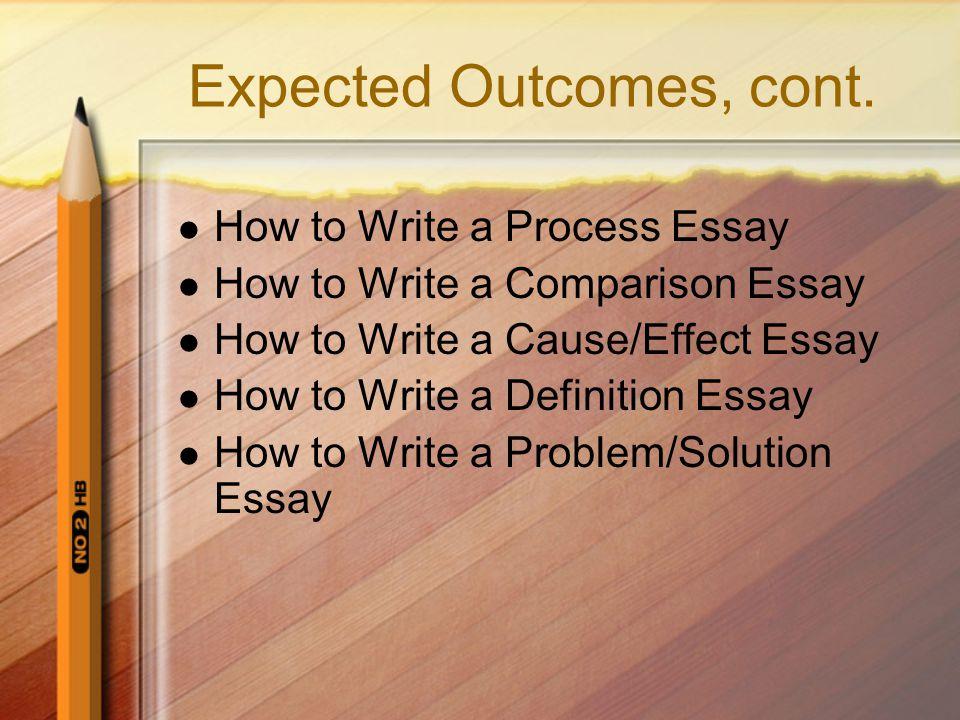 How do you write a definition essay