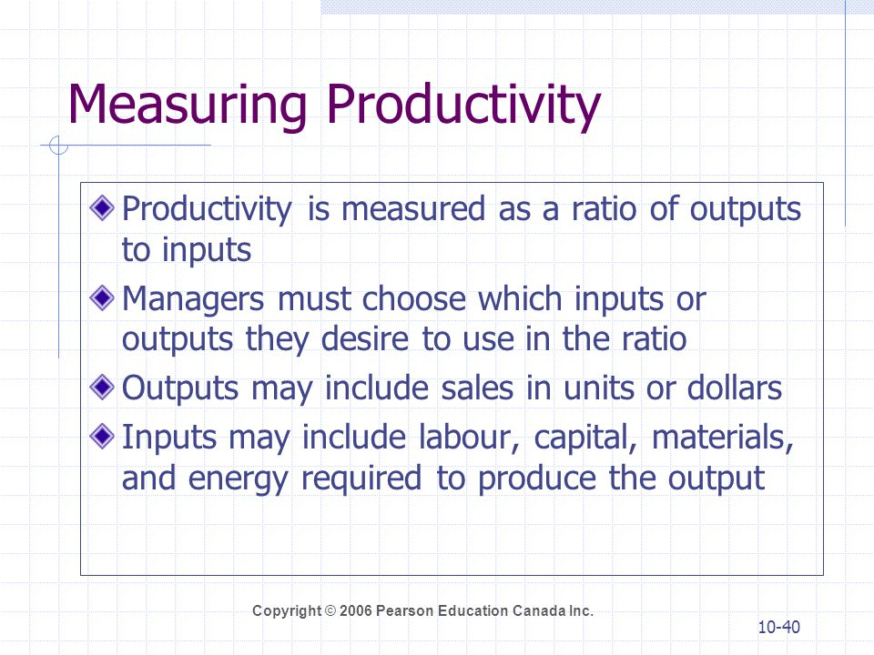 productivity measuring