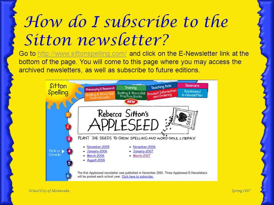 How do I subscribe to the Sitton newsletter