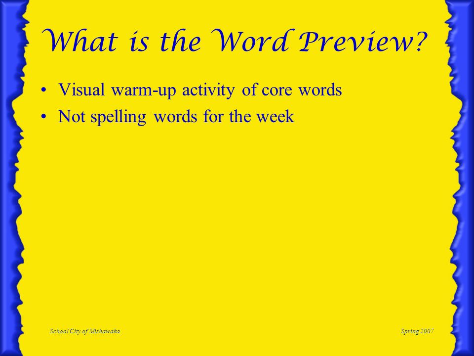 What is the Word Preview