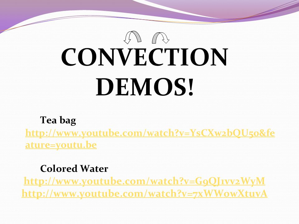 CONVECTION DEMOS! Tea bag   v=G9QJ1vv2WyM