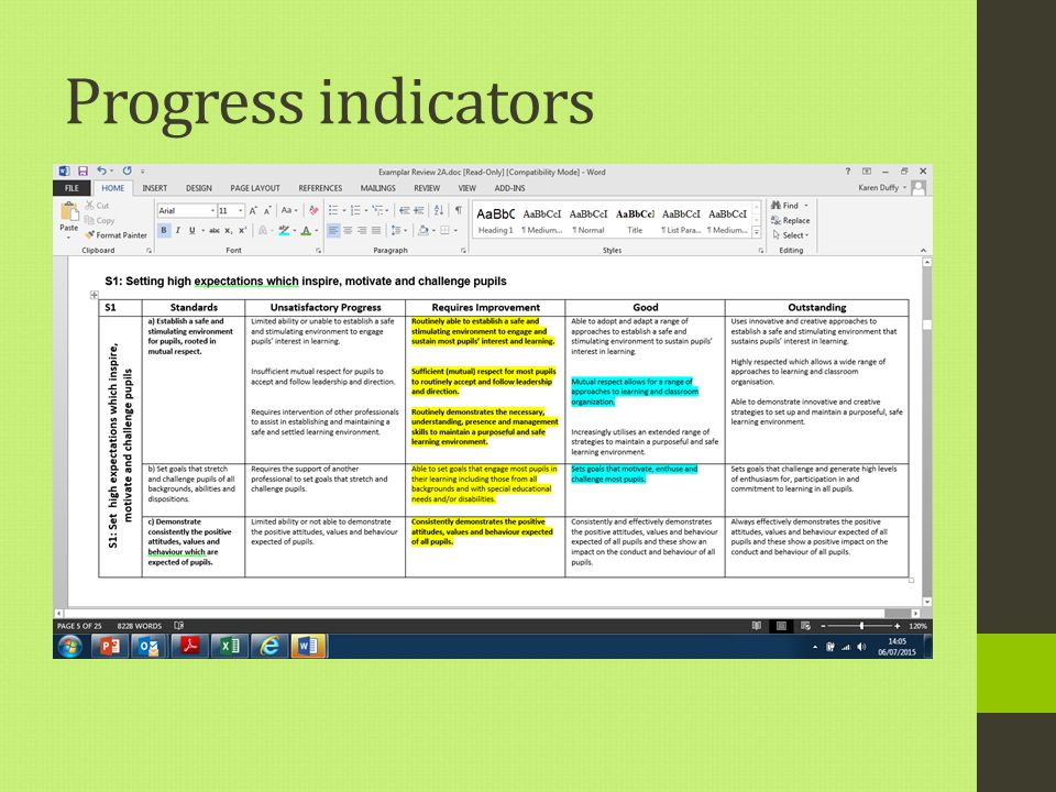 Progress indicators