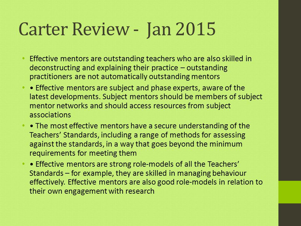 Carter Review - Jan 2015