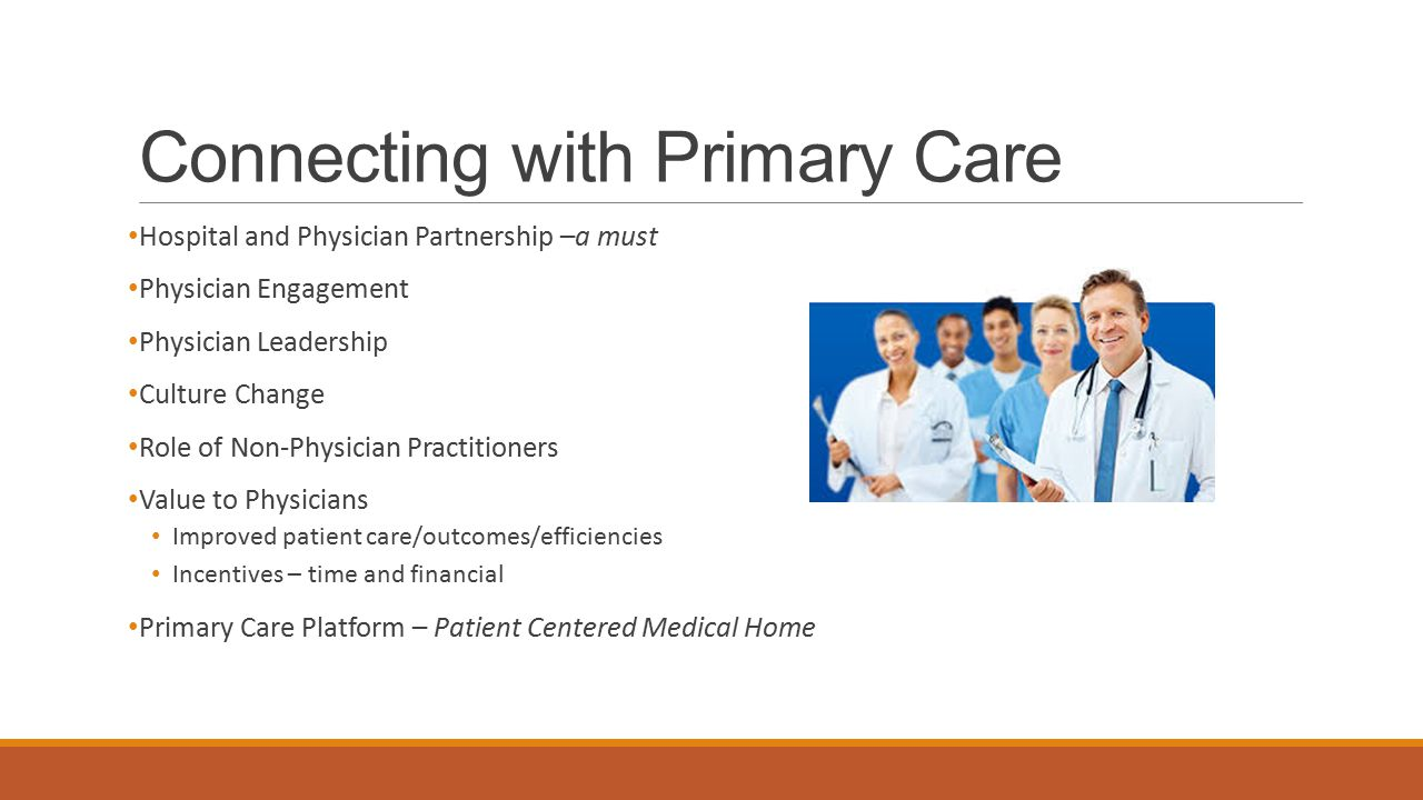 Connecting with Primary Care