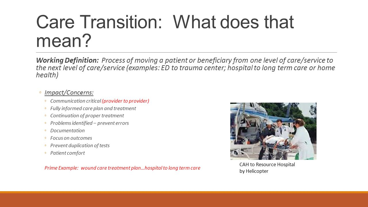 Care Transition: What does that mean
