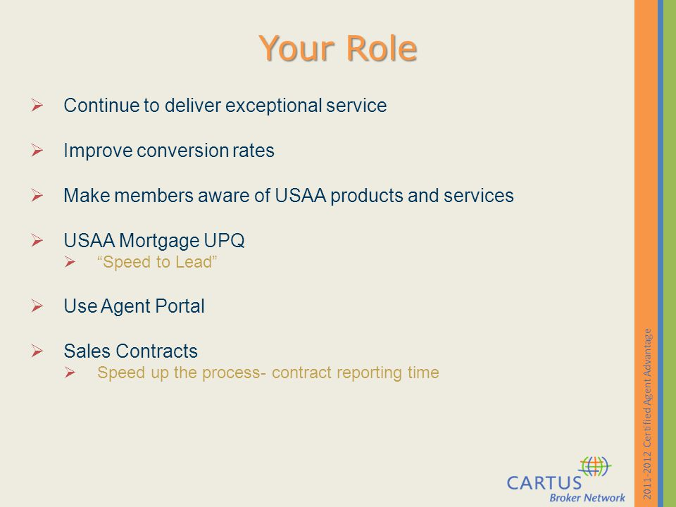 Certified Agent Advantage - Ppt Download