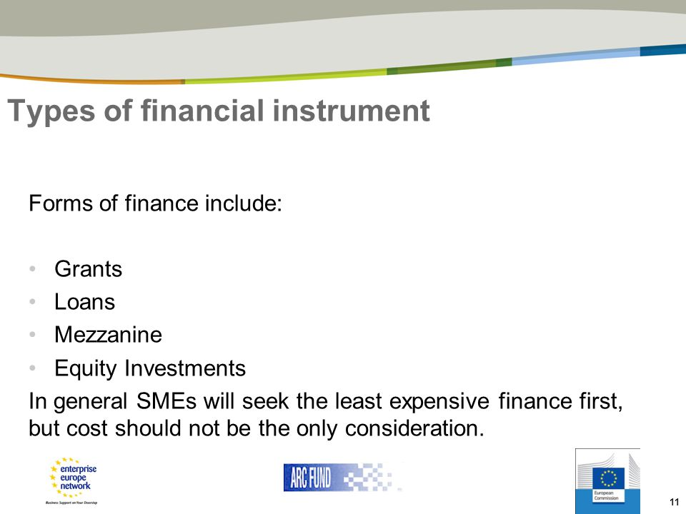 Types of financial instrument