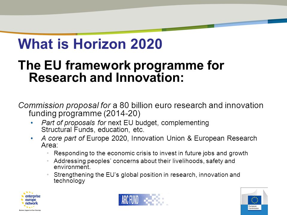 What is Horizon 2020 The EU framework programme for Research and Innovation: