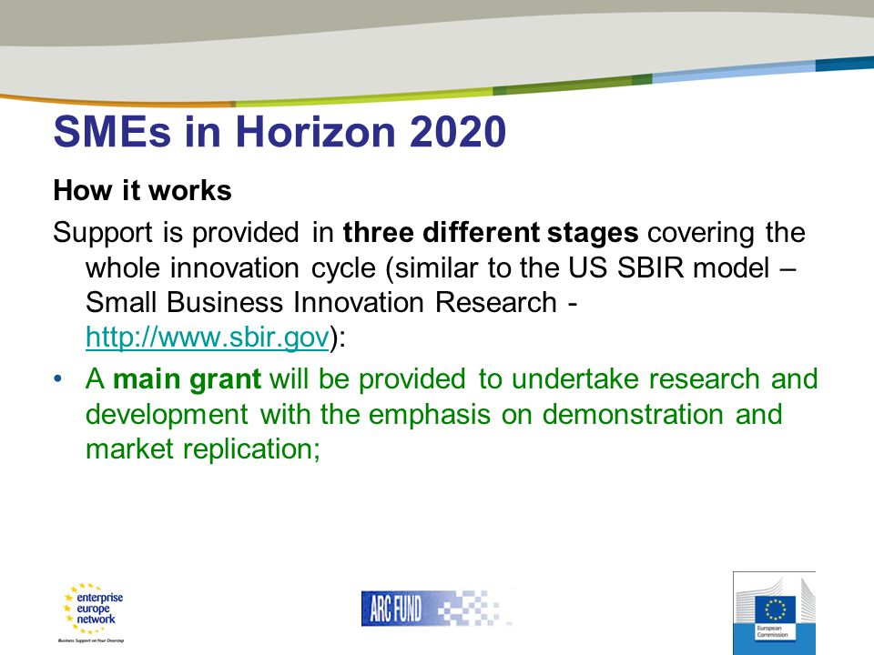 SMEs in Horizon 2020 How it works