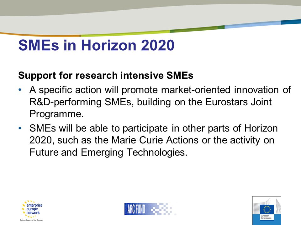 SMEs in Horizon 2020 Support for research intensive SMEs