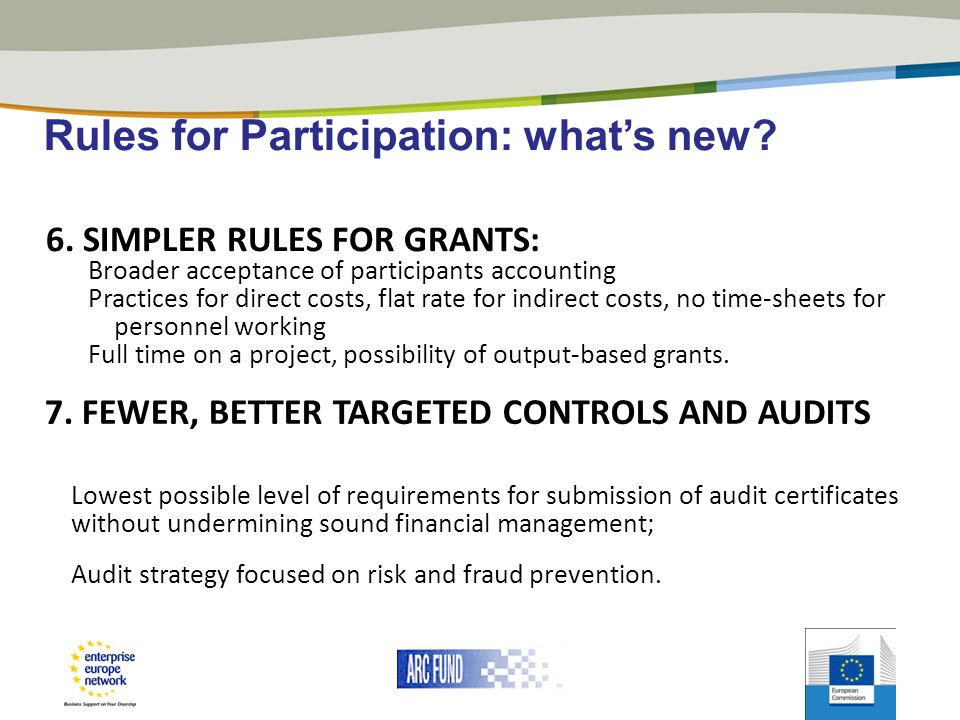 Rules for Participation: what's new