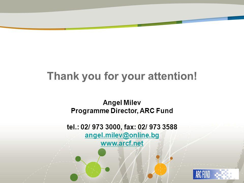 Programme Director, ARC Fund