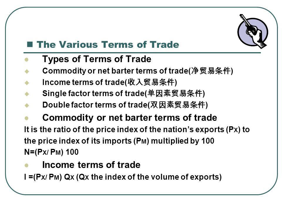 Learn More About Net Barter Terms of Trade Index in These Related Titles