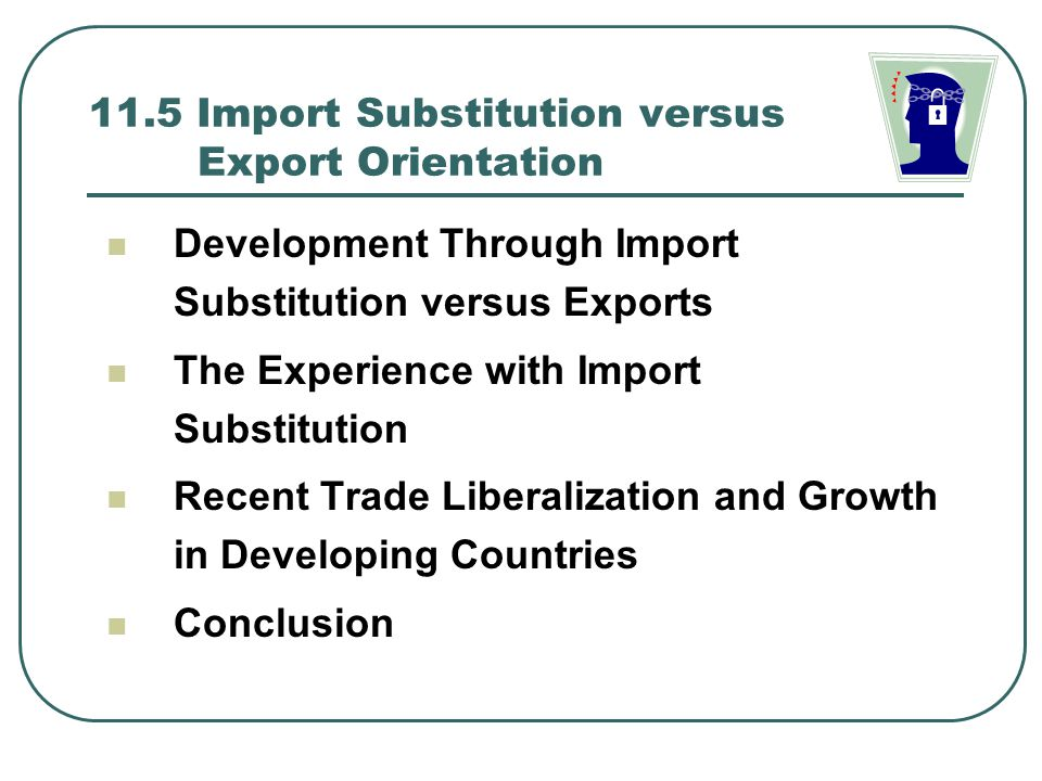 import substitution policy and export led growth strategy economics essay Trade liberalization, export import-substitution policies involving trade barriers and capital controls, towards export-oriented growth strategies.