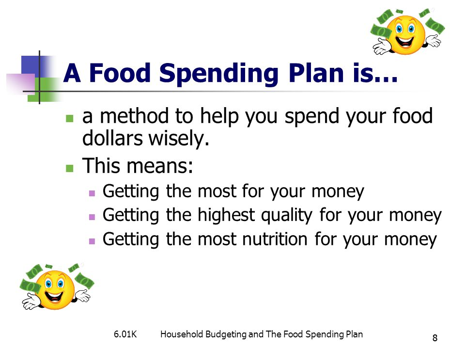 A Food Spending Plan is…